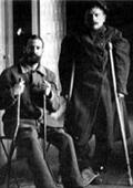 René Cassin blessé en 1915 (assis à gauche)