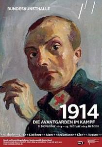 """Affiche de l'exposition de Bonn sur """"Les avant-gardes en guerre"""""""