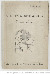 Couverture du portfolio Gestes d'infirmière.Croquis 1916-1917